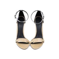 Lizard-Embossed Sandals