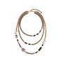 Authentic Pre Owned Chanel Amethyst Triple-Strand Chain Necklace (PSS-240-00249) - Thumbnail 0