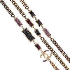 Chanel amethyst triple strand chain necklace 2?1536209298