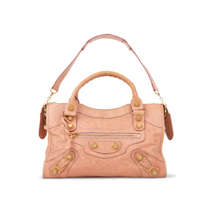 Authentic Pre Owned Balenciaga Vieux Rose Giant City Bag (PSS-059-00028)