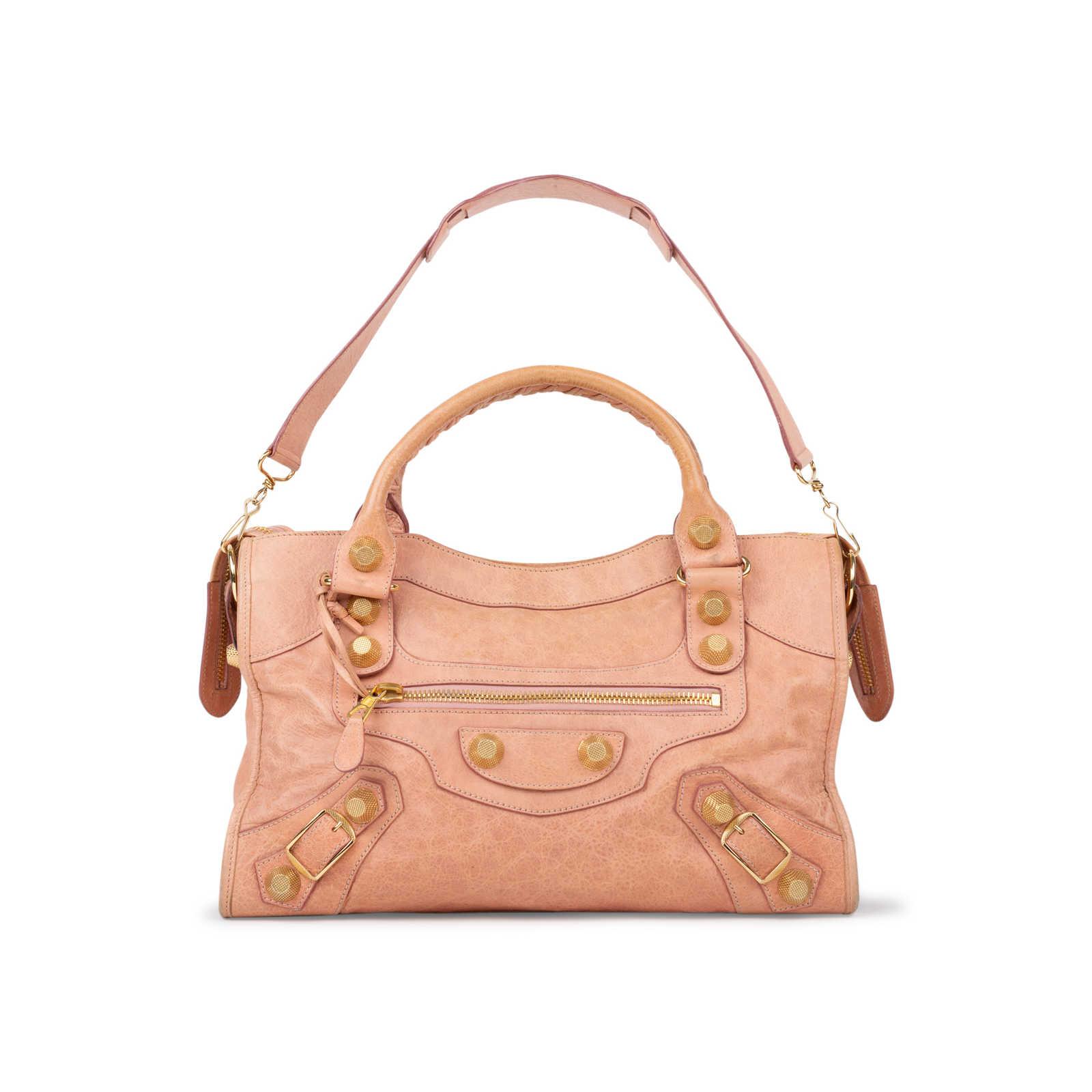 design de qualité 2ccd3 aadcc Authentic Second Hand Balenciaga Vieux Rose Giant City Bag ...