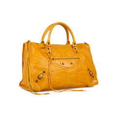Balenciaga classic work bag yellow 2?1536291048