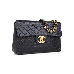 Chanel classic maxi flap bag black 2?1536291087