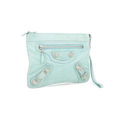 Balenciaga flat clutch blue 2?1536291112