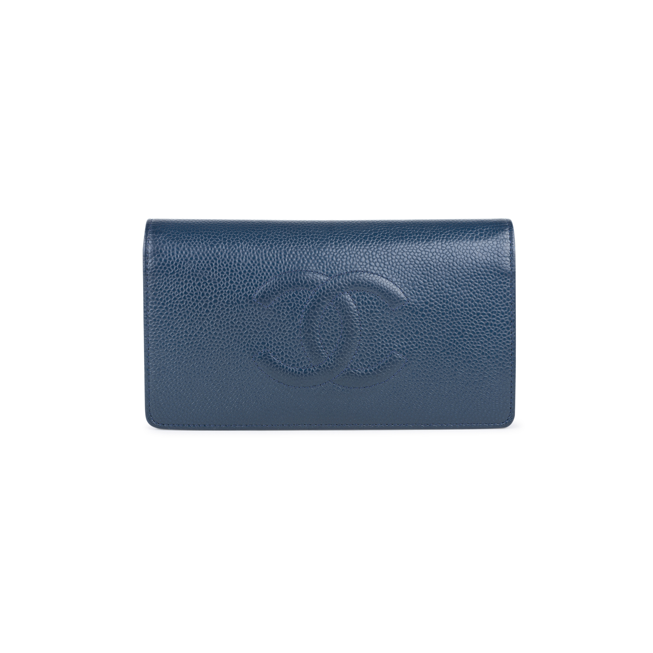 b55d106733e8 Authentic Second Hand Chanel Caviar Yen Wallet (PSS-547-00012) | THE FIFTH  COLLECTION