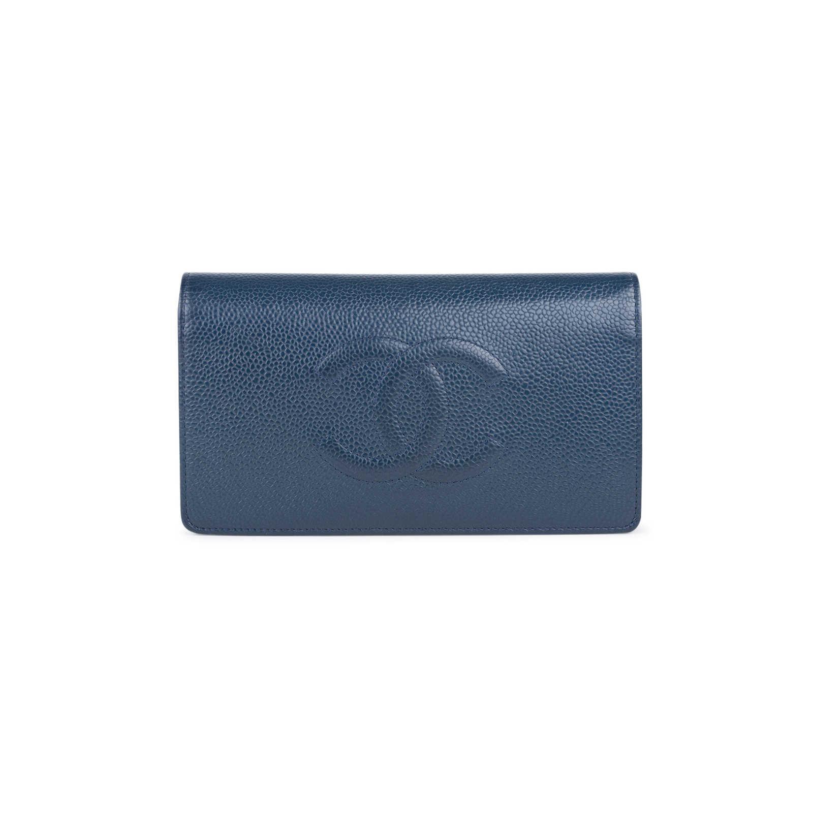 14dd39de25eebb Authentic Second Hand Chanel Caviar Yen Wallet (PSS-547-00012) - Thumbnail  ...