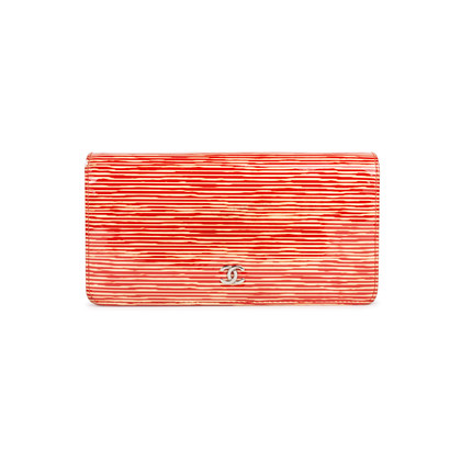 Authentic Second Hand Chanel Patent Striped Wallet (PSS-547-00013)