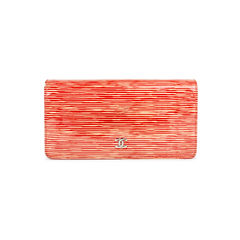 Patent Striped Wallet
