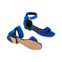 Authentic Second Hand Céline Blue Suede Flat Sandals (PSS-547-00004) - Thumbnail 1