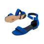 Authentic Second Hand Céline Blue Suede Flat Sandals (PSS-547-00004) - Thumbnail 2