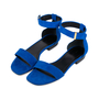 Authentic Second Hand Céline Blue Suede Flat Sandals (PSS-547-00004) - Thumbnail 3