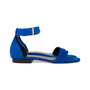 Authentic Second Hand Céline Blue Suede Flat Sandals (PSS-547-00004) - Thumbnail 4