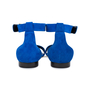 Authentic Second Hand Céline Blue Suede Flat Sandals (PSS-547-00004) - Thumbnail 5