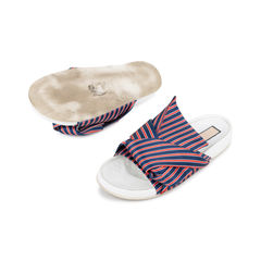 N 21 knotted striped satin slides 2?1536637275