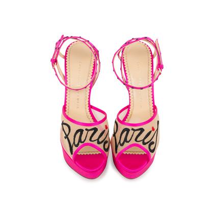 Authentic Second Hand Charlotte Olympia Paris Platform Sandal (PSS-547-00003)