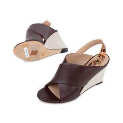 Celine python slingback wedge sandals 2?1536637398