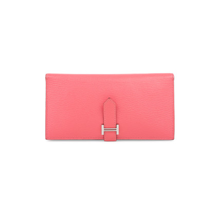 Authentic Pre Owned Hermès Rose Lipstick Bearn Wallet (PSS-197-00087)