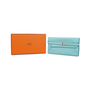 Authentic Pre Owned Hermès Bleu Atoll Ghillies Kelly Classic Wallet (PSS-197-00088) - Thumbnail 7