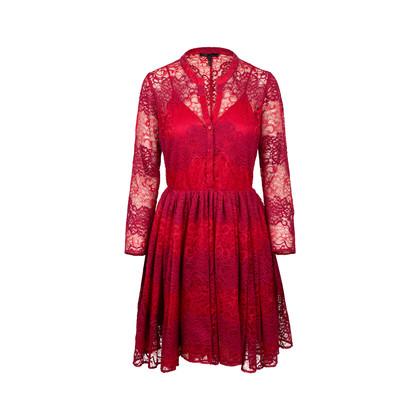 Authentic Second Hand Maje Rayela Two Tone Lace Dress (PSS-197-00091)