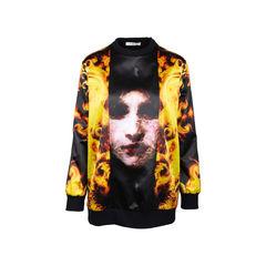 Fire Print Sweater