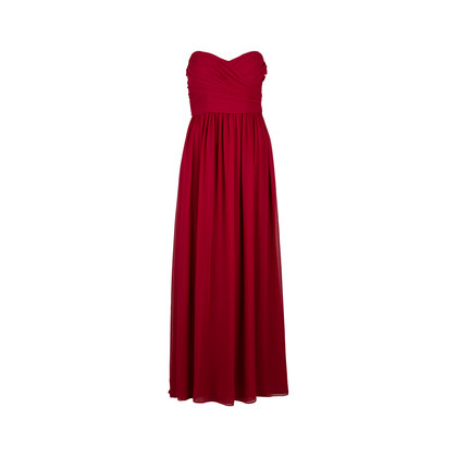 Authentic Second Hand Monique Lhuillier Bustier Pleated Gown (PSS-236-00039)