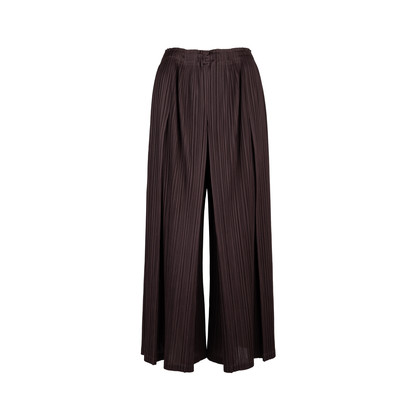 Authentic Second Hand Pleats Please Wide Leg Trousers (PSS-548-00003)