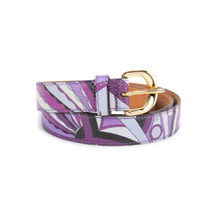 Emilio pucci purple multicoloured printed waist belt 2?1536825609