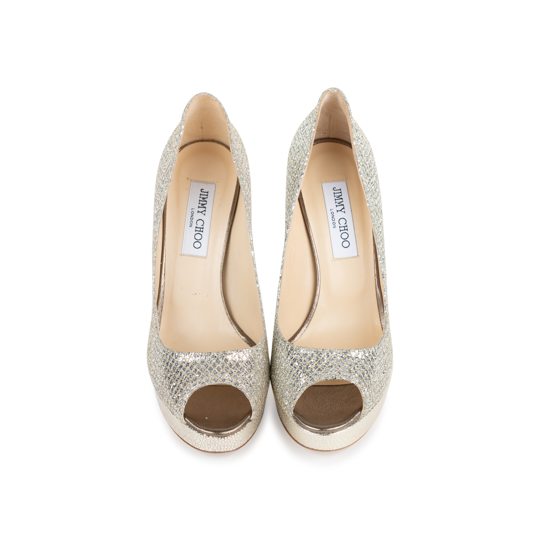 7b9937afddfc Authentic Second Hand Jimmy Choo Crown Peep Toe Pumps (PSS-552-00010 ...