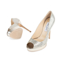 Authentic Second Hand Jimmy Choo Crown Peep Toe Pumps (PSS-552-00010) - Thumbnail 4