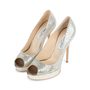 Authentic Second Hand Jimmy Choo Crown Peep Toe Pumps (PSS-552-00010) - Thumbnail 2