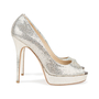 Authentic Second Hand Jimmy Choo Crown Peep Toe Pumps (PSS-552-00010) - Thumbnail 1