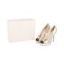 Authentic Second Hand Jimmy Choo Crown Peep Toe Pumps (PSS-552-00010) - Thumbnail 6