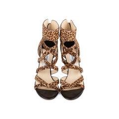 Leopard Print Zipper Sandals