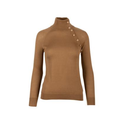Authentic Second Hand Balmain Asymmetrical Button Sweater (PSS-424-00100)