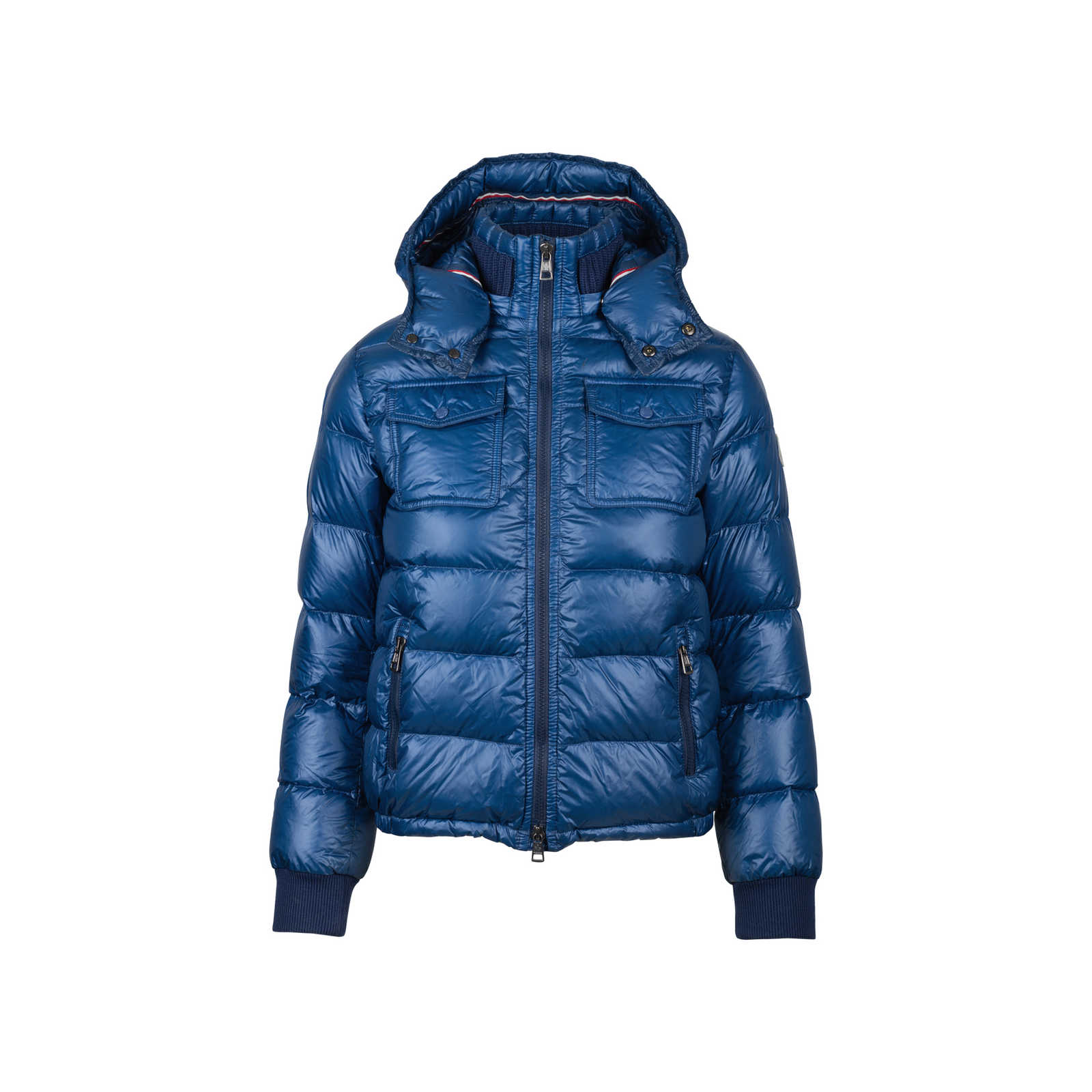 Moncler Kids Down Jacket Blue - Thumbnail 0 ...