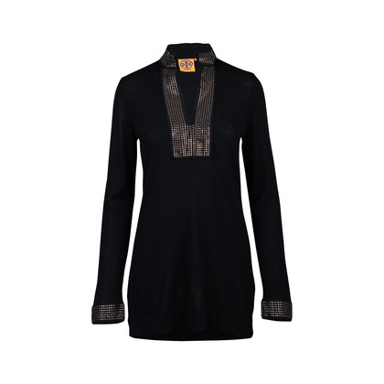 Authentic Second Hand Tory Burch Embellished Knit Tunic (PSS-200-01421)