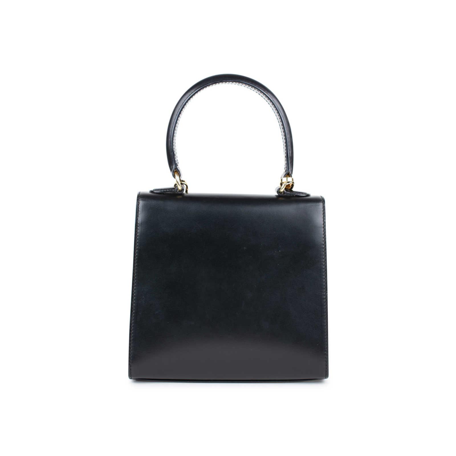 85172ba1ec7c ... Authentic Vintage Céline Logo 2Way Handbag (PSS-424-00093) - Thumbnail  2 ...