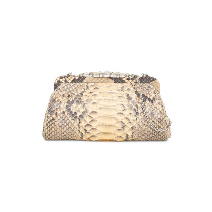 Authentic Pre Owned Darby Scott Python Clutch (PSS-145-00178)