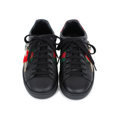 Ace Pierced Heart Leather Sneakers