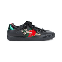 Gucci ace pierced heart leather sneakers 3?1537262005