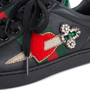 Authentic Pre Owned Gucci Ace Pierced Heart Leather Sneakers (PSS-145-00202) - Thumbnail 6