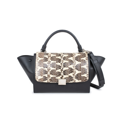 Authentic Second Hand Céline Watersnake Skin Flap Trapeze Bag (PSS-145-00214)
