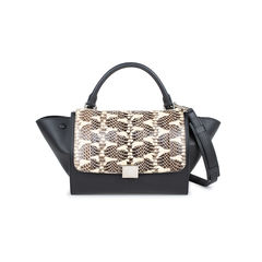 Watersnake Skin Flap Trapeze Bag