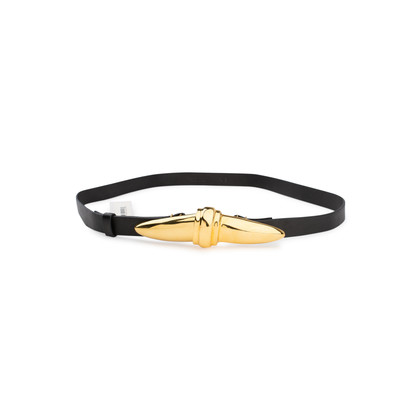 Authentic Pre Owned Donna Karan Gold Clasp Belt (PSS-145-00171)