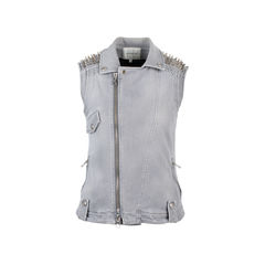 Denim Studded Vest