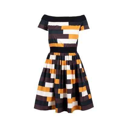 Authentic Second Hand Prada Colourblock Dress (PSS-515-00067)