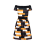Authentic Second Hand Prada Colourblock Dress (PSS-515-00067) - Thumbnail 1