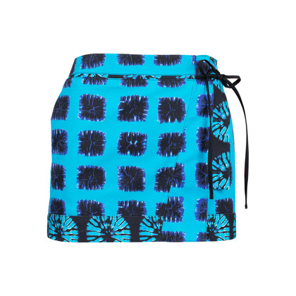 Authentic Second Hand Proenza Schouler Tie-Dye Wrap Miniskirt (PSS-515-00081)