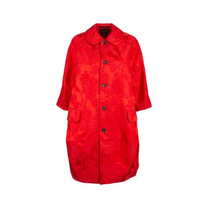 Authentic Pre Owned Comme Des Garçons Floral Jacquard Coat Dress (PSS-145-00182)