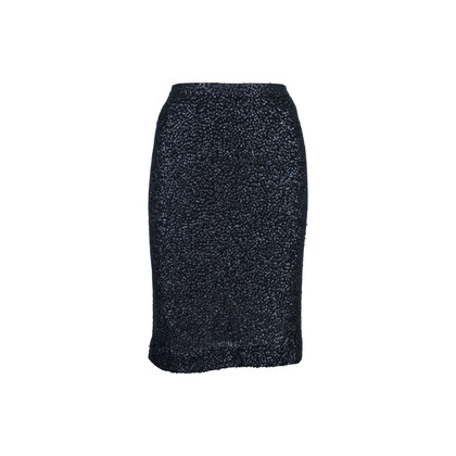 Authentic Second Hand Donna Karan Sequined Cashmere Blend Skirt (PSS-145-00191)